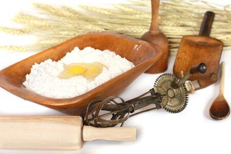 Temps Casseroles et cuisson ustensiles anciens et ingr�dients