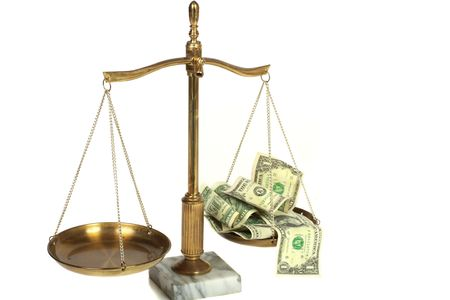 Conceptual view of high cost legal fees Stock Photo - 5986083
