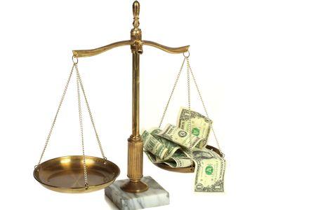 Vue conceptuel des frais juridiques co�t �lev�  Banque d'images
