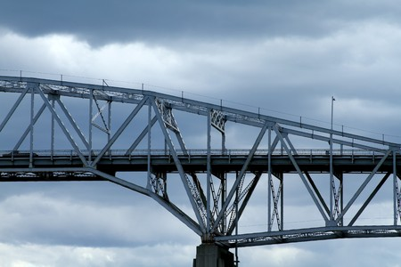 Side view of a steel bridge crossing. Stock Photo - 7150454