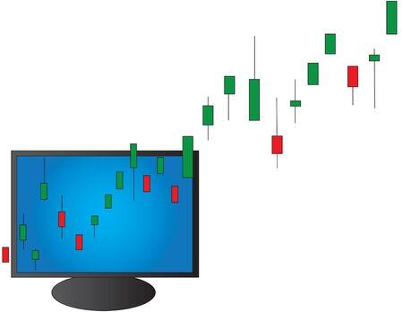 Conceptual bull market illustration
