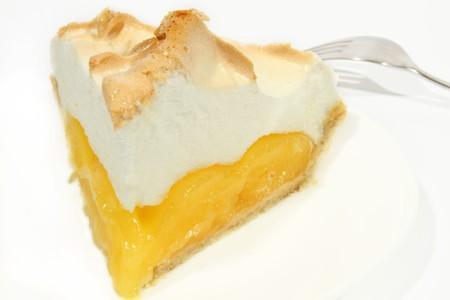 A fresh serving of lemon meringue pie  photo