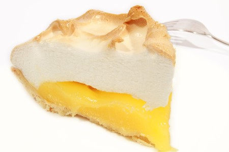 A fresh serving of lemon meringue pie