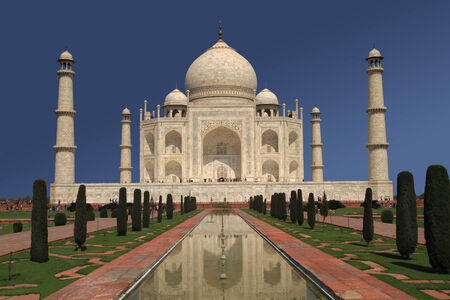 A view of the Taj Mahal in Agra, India  Stock Photo