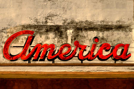 Old America Sign
