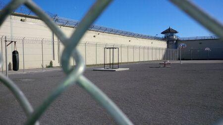 penitenciaria: Kingston penitenciario, área de jardin al aire libre de la antigua prisión de máxima seguridad ahora cerrado