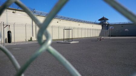 Kingston penitentiary, outdoor yard area of former maximum security prison  Now closed  Editorial