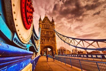 Tower Bridge walkway in London