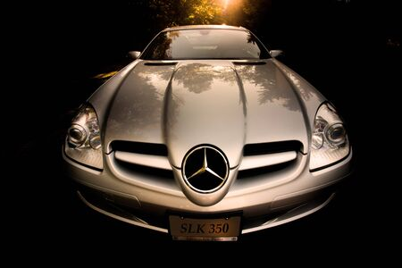 Mercedes Benz SLK350 wide angle front view