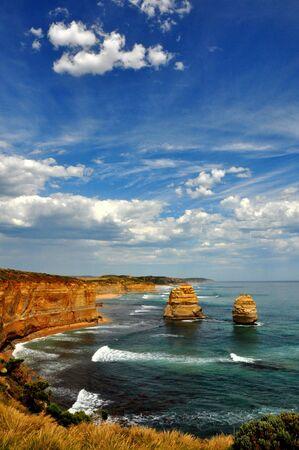 apostles: Gorgeous day at The Twelve Apostles, Great Ocean Road, Australia Stock Photo