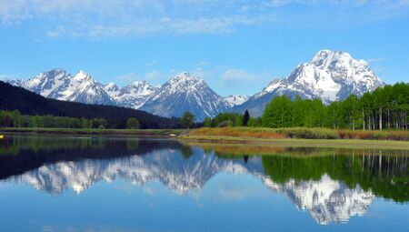 oxbow bend: The Grand Tetons from Oxbow Bend, Grand Teton National Park, Wyoming