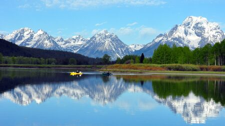 The Grand Tetons from Oxbow Bend, Grand Teton National Park, Wyoming