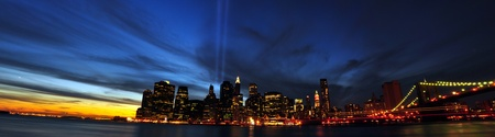 9/11 Tribute in Light. 9/11/2010. New York City Stock Photo - 8432414