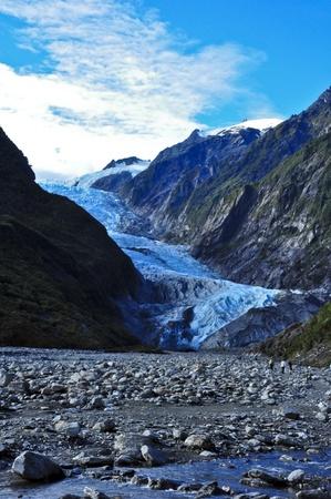 franz josef: Franz Josef Glacier. Isla Sur, Nueva Zelanda