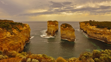 ard: Sunset at the The Loch Ard Gorge, Great Ocean Road, Australia Stock Photo