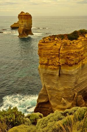 water feature: Sunset at The Twelve Apostles, Great Ocean Road, Australia Stock Photo