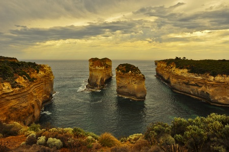 ard: Sunset at the Loch Ard Gorge, Great Ocean Road, Australia.