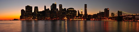 Beautiful evening and sunset for a Manhattan Panorama. New York City Stock Photo - 8431806