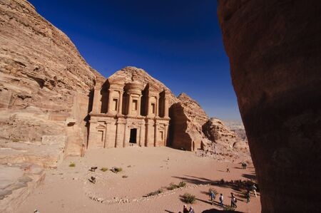 petra  jordan: Ad-Deir, The Monastery. Petra, Jordan Stock Photo