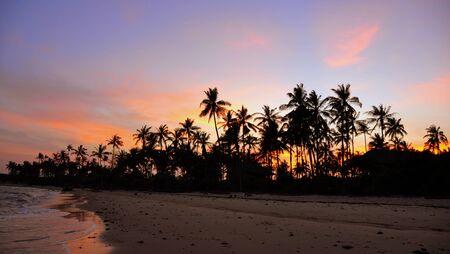 rasta colors: Sunset in Zanzibar. Tanzania