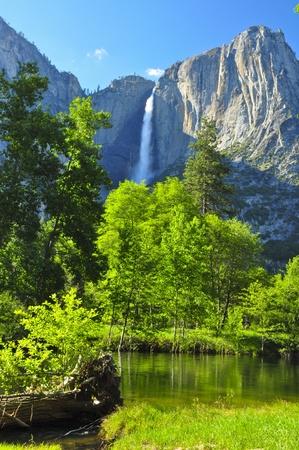 yosemite: Upper Yosemite Falls. Yosemite National Park Stock Photo