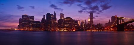 Manhattan Panorama at sunset. New York City photo