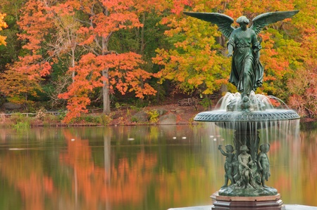 bethesda: Fall at Bethesda Fountain. Central Park, New York City
