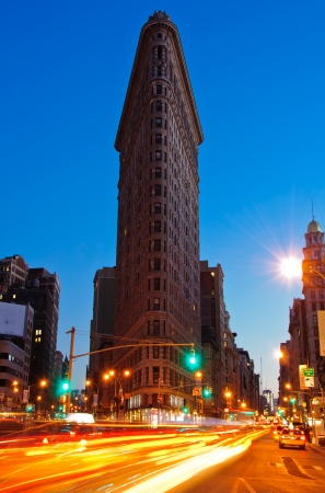 flatiron: NEW YORK CITY - NOVEMBER 15  The Flatiron Building on November 15, 2012 in New York, NY  Considered a landmark skyscraper and completed in 1902, it s designated a National Historic Landmark   Editorial