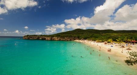 Beautiful white sand beach in the Caribbean 스톡 콘텐츠
