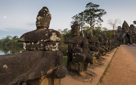 Sculptures of Angkor Wat complex  Siem Reap, Cambodia