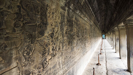 Bas relief of Angkor Wat  Siem Reap, Cambodia