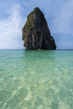 Beautiful Phra Nang beach on Railay  Krabi, Thailand Zdjęcie Seryjne