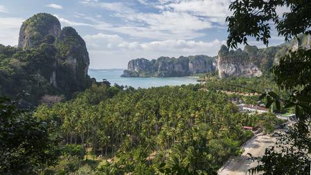 Panorama of beautiful Railay  Krabi, Thailand