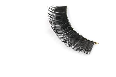 false eyelashes: Black false eyelashes through use Stock Photo