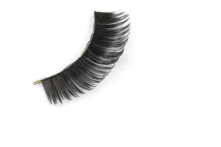 fake eyelashes: Black false eyelashes through use Stock Photo