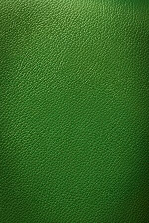 green background: green leatherette texture  background Stock Photo