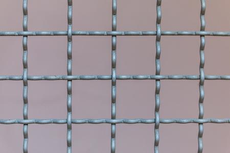reinforcing bar: Steel mesh squares for background