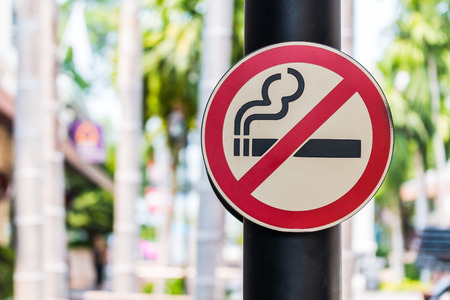 issue: Dont smoke sign Stock Photo
