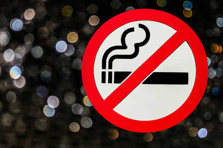 smoking place: No smoking sign in public place for background Stock Photo