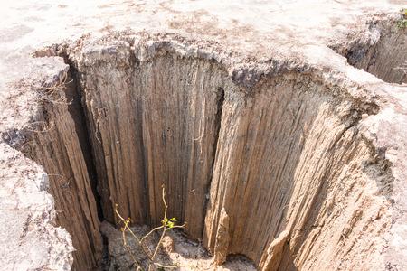 produced: soil erosion has produced stranges shapes Stock Photo