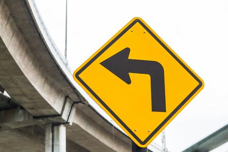 left: SignsTraffic turning left Stock Photo