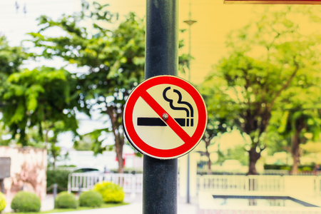 Dont smoke sign in the public