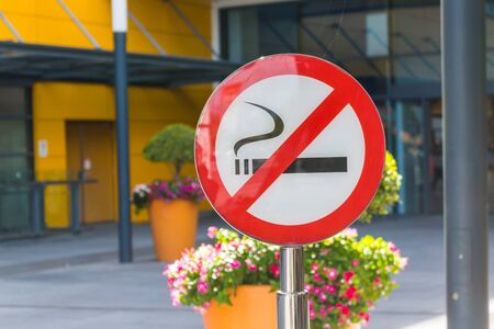 abstain: Dont smoke sign Stock Photo
