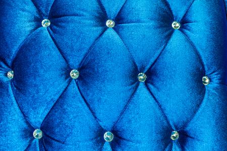 blue velvet: Luxury  blue velvet cushion close-up background