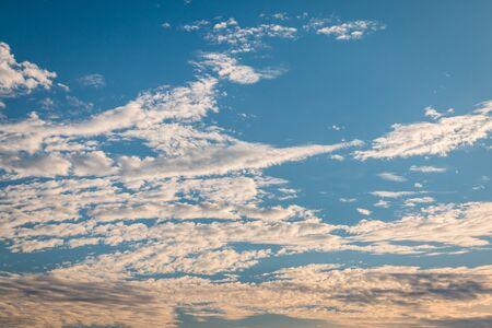 blue sky with cloud closeup and sunlight