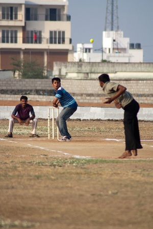Sand cricket ground in india