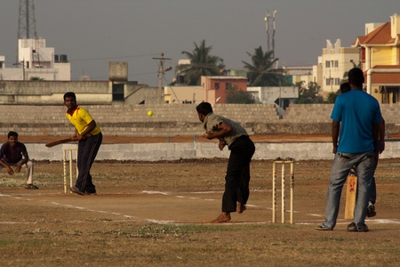 Indian Cricket Grounds placed across the school