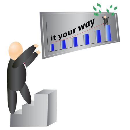 Business man on the road to success Illustration