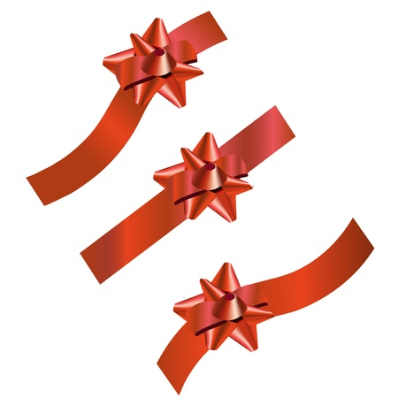 Set of three festive ribbons, suitable for different holidays