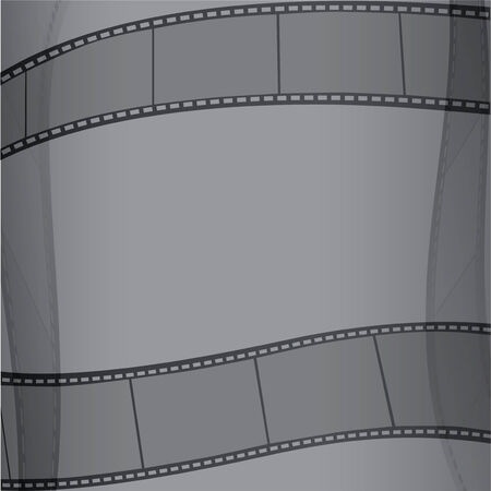 celluloid: Celluloid on a gray background  Illustration